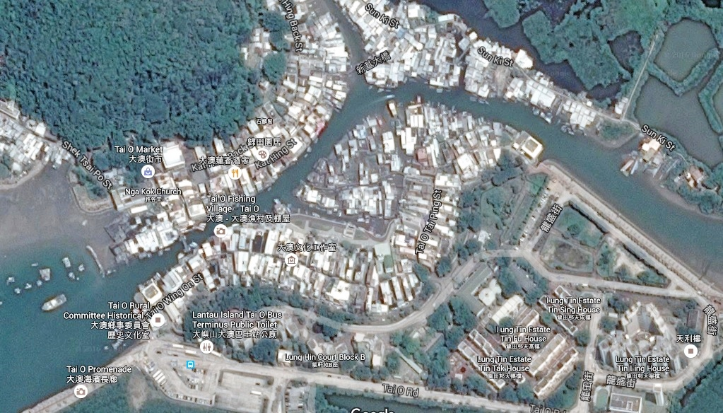 Satellite view of the village