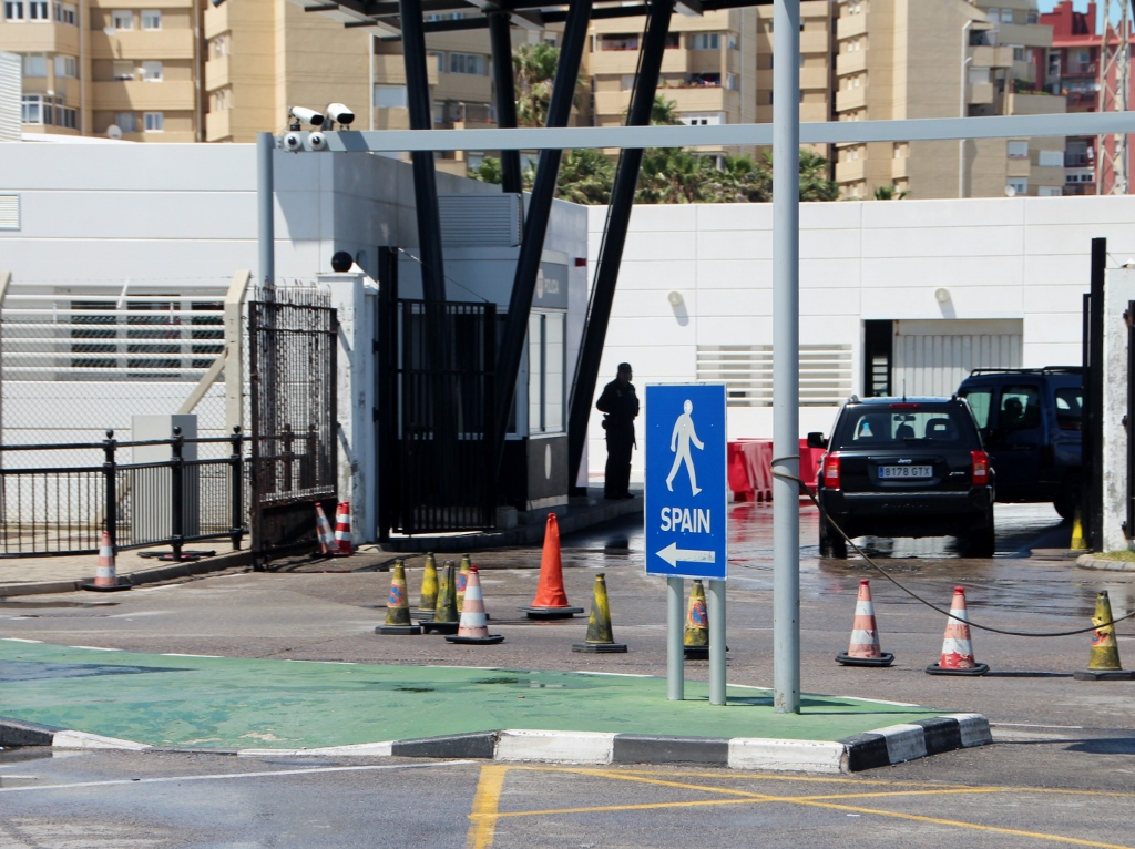 Border control  between Spain and Gibraltar